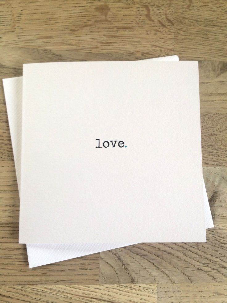 Blank 'love' card for Weddings, Anniversary, or to just tell someone special you love them. by BowandBelleCreations on Etsy