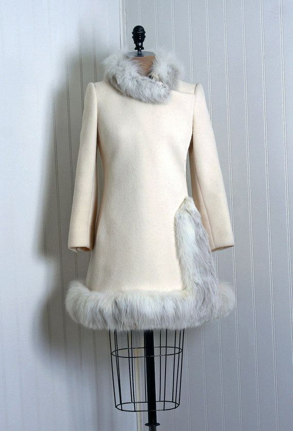1960's Fun Dress,had a white wool coat almost just like this.. loved it