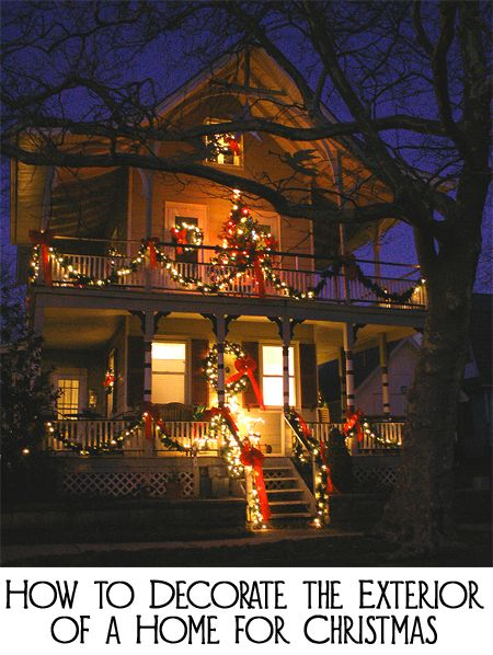 Forget the cheap inflatable decorations, cartoon characters, blinking colored lights, and excessive wire frame sculptures when decorating the exterior of your home for Christmas. Here are ways to have a beautiful and elegant outdoor Christmas display.