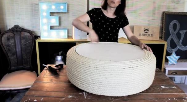 Como hacer un sillon con un neumatico viejo - Topepost