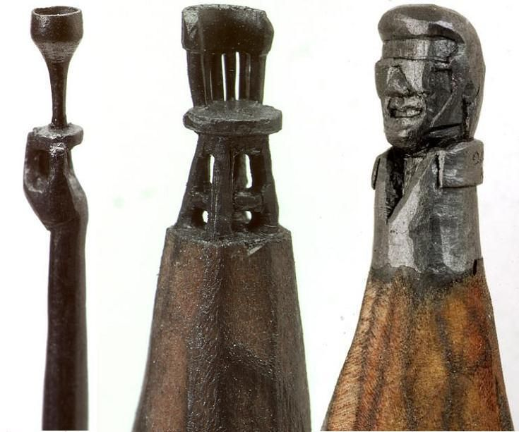 Best Pencil Tip Carvings Images On Pinterest Wood Sculpture - 8 astonishing tiny sculptures carved on the tips of pencils