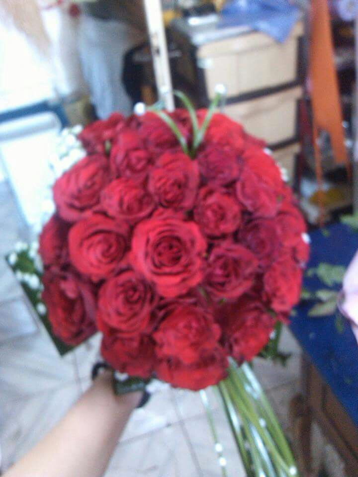 Only red roses, love it..