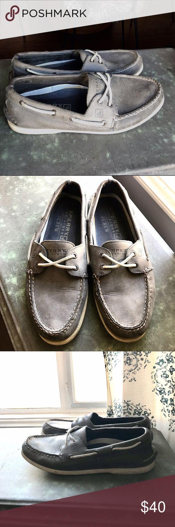 Sperry J.Crew Top Sider Sperry/J.Crew Gray Blue Boat Shoes Sperry Top-Sider Shoes Boat Shoes