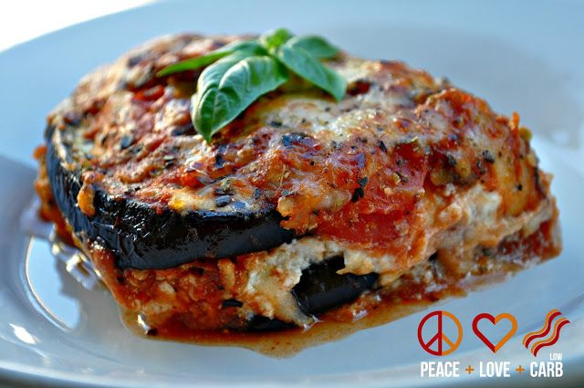 Eggplant Lasagna with Meat Sauce Shared on https://www.facebook.com/LowCarbZen