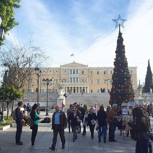 Find real #Christmas in #Athens! #Winter #Xmas Photo credits: @athens_city