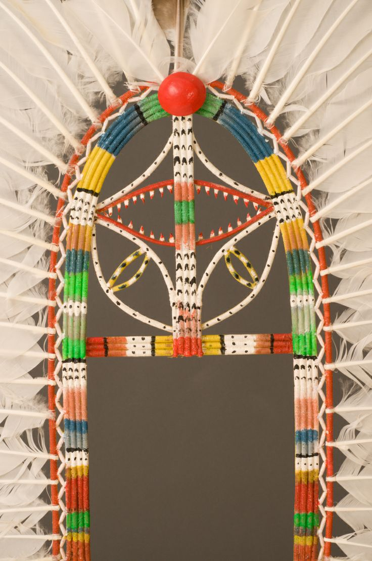 Detail of a Dhari from the Queensland Museum collection. The Dhari is the distinctive traditional dance and ceremonial headdress of the Torres Strait. It is the central motif on the region's flag and symbolises the identity and unity of all Torres Strait Islanders. #torresstrait #museum #culturalhistory