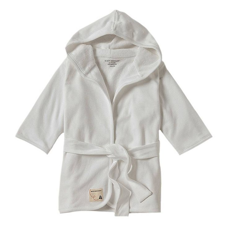 product image for Burt's Bees Baby Organic Knit Terry Robe in Cloud