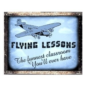 AIRPLANE model SIGN remote FLYING lessons VINTAGE retro