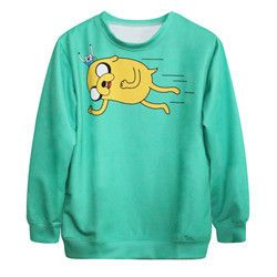 Woman adventure time sweatshirt female long sleeves O-neck Spring & Autumn 3d print shirt hora de aventura women's clothing 007
