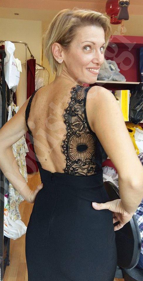Επίσημο φόρεμα ανοιχτή πλάτη δαντέλα