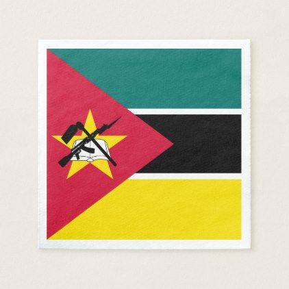 Mozambique Flag Paper Napkin - cyo diy customize unique design gift idea