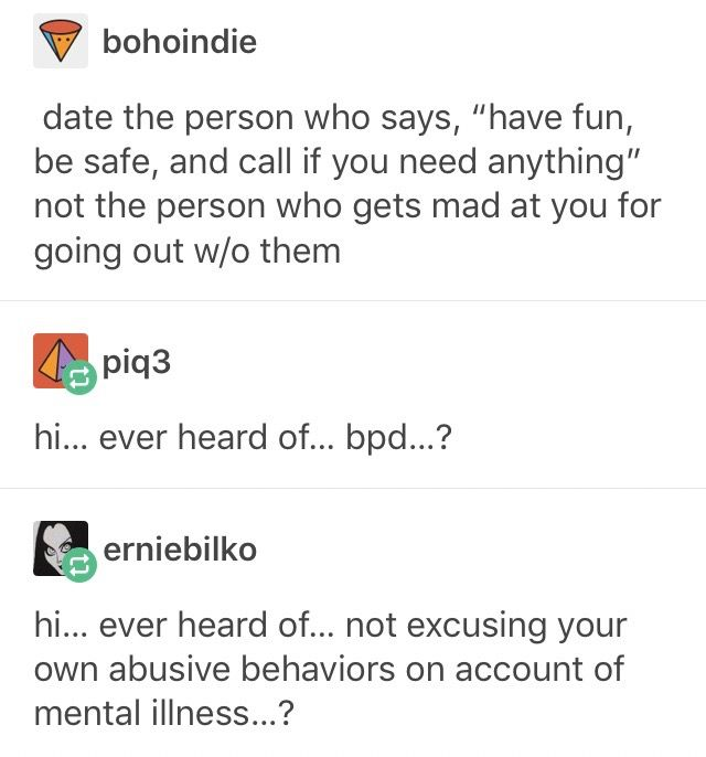 (Mental illness never excuses abuse. If you think it does, then you definitely deserve to be alone for the rest of your life.)