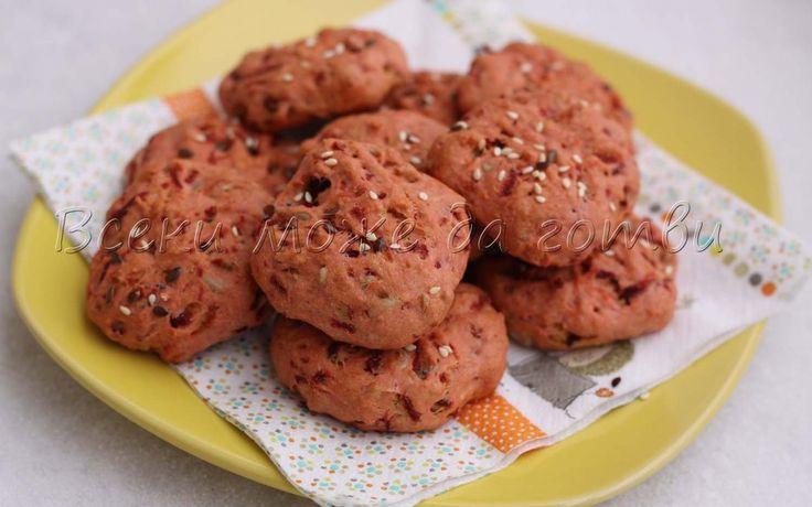 Никога не сте яли такава вкусотия – солени бисквити с червено цвекло