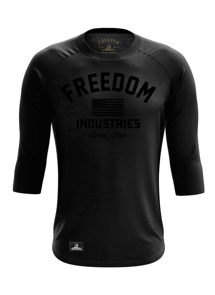 PHANTOM VARSITY   3/4 RAGLAN TEE – FREEDOM INDUSTRIES