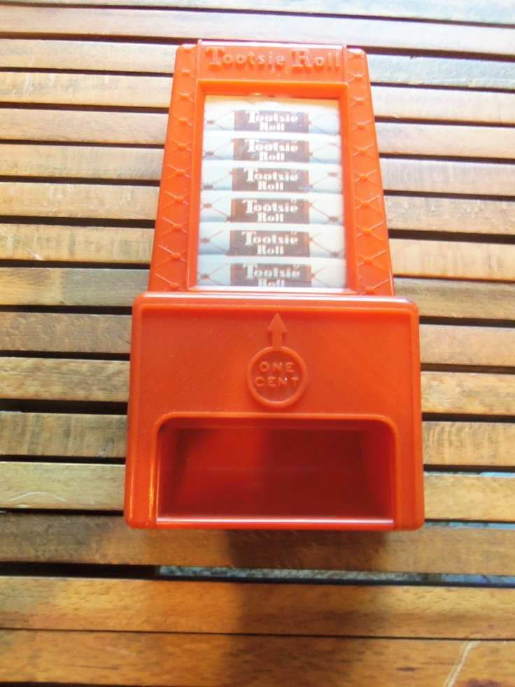 Vintage 1960 S Tootsie Roll Candy Toy Bank Dispenser