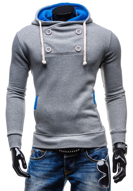 Hoodie Cotton Hoodies Full Chandal Hombre Moleton Masculino 2015 New Fashion Leisure Collar Button Decorative Sleeves Mens Wy03 Online with $21.28/Piece on Liudandan8610's Store | DHgate.com