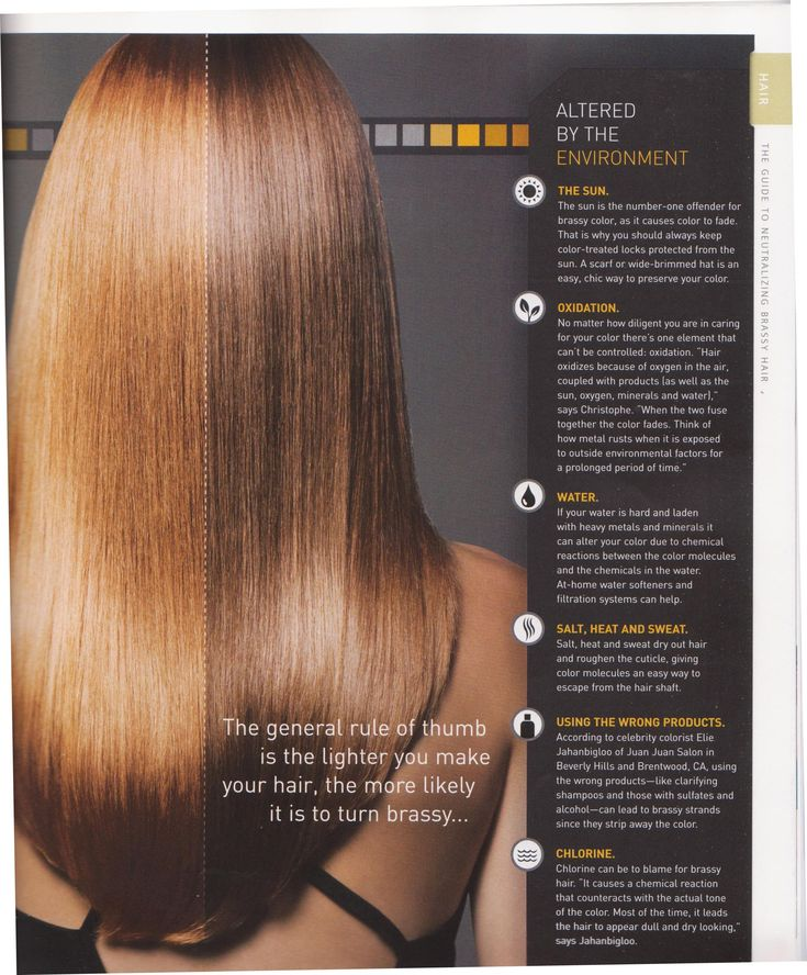 Causes of brassy hair color very little