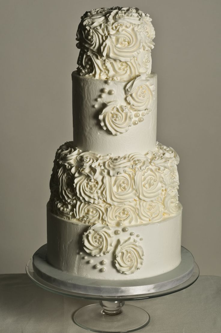 Simulated Buttercream Roses Cake