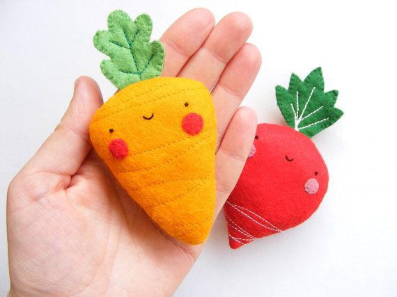 PDF pattern - Carrot & radish earphones holders - cute veggies, easy sewing…