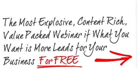 Free Training Webinar on 25 Marketing Strategies Guaranteed to Produce Free Leads for Life !!!    - http://harveyrobinson.25marketingmethods.com/
