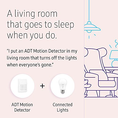 Samsung Smartthings Adt Wireless Home Security Starter Kit With Diy Smart Alarm System Hub Door And Window Wireless Home Security Motion Detector Smartthings
