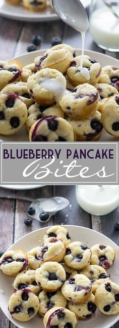 Blueberry pancake bites will be your new go-to for an on-the-go breakfast. (Breakfast Recipes Pancakes)
