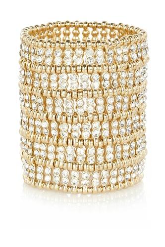 #River Island Gold Tone Oversized Diamante Bracelet, $48 Love this bracelet!!