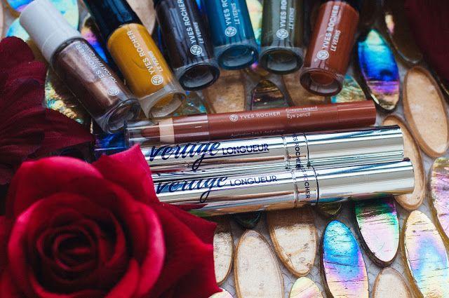"""Yves Rocher, Тушь для ресниц """"Виртуозная длина"""", Тени - карандаш для век красный клен, Лаки для ногтей, Верхнее покрытие с эффектом медное сияние, ив роше, осень ив роше 2016, inpoison."""