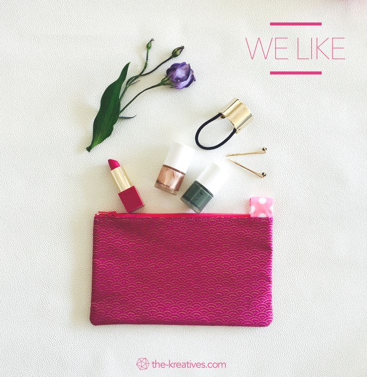 Fabric pouch from french designer. Available now on www.the-kreatives.com