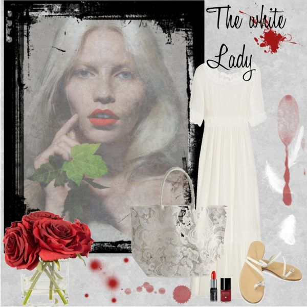 The white Lady, created by dea-afrodite on Polyvore