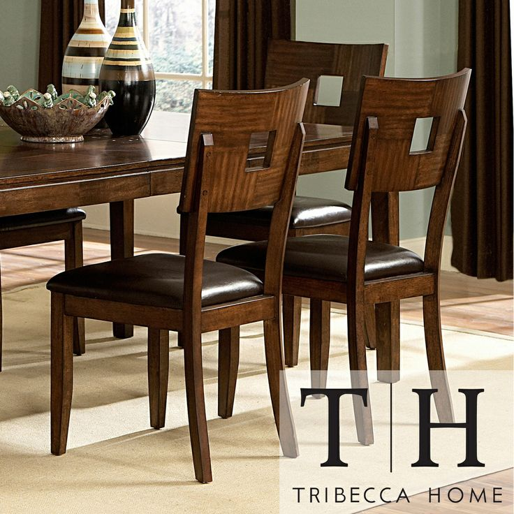 Tribecca Home Watson Open Back Casual Dining Chairs Set