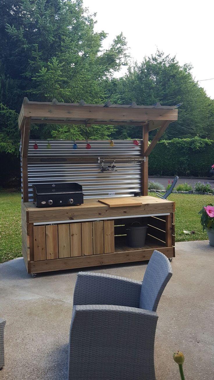 Affordable meuble pour plancha de fabrication maison for Fabriquer une desserte