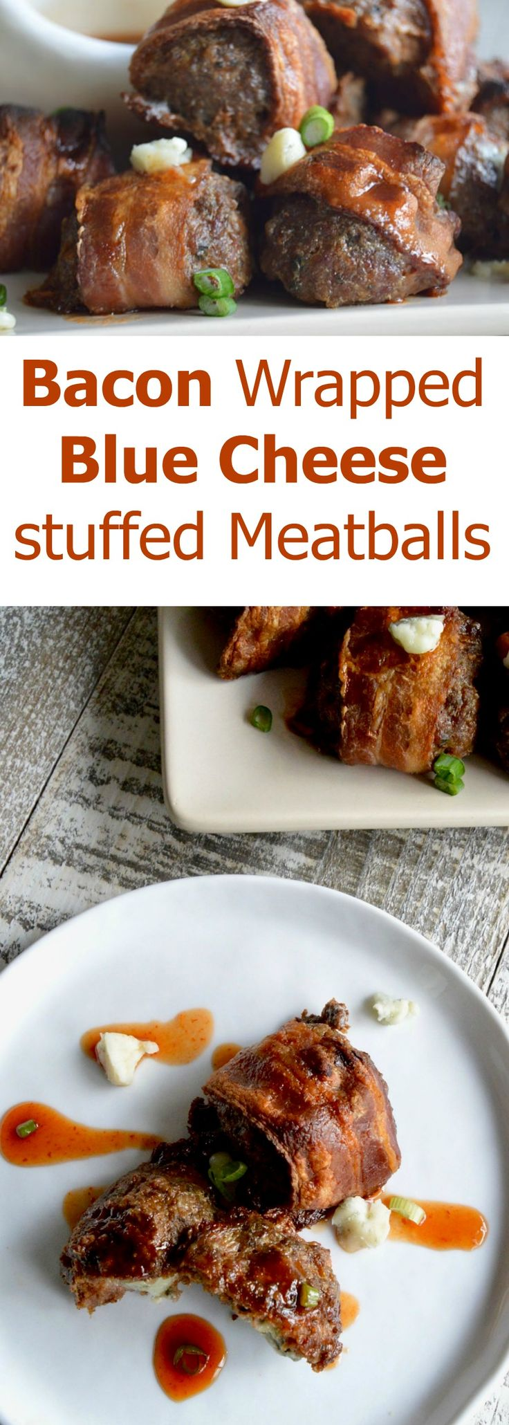 Bacon Wrapped Blue Cheese meatballs |Appetizer| Partyfood| via @westviamidwest