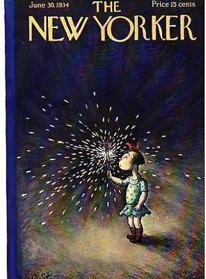 1934 New Yorker June 30 Fourth of July sparkler Steig