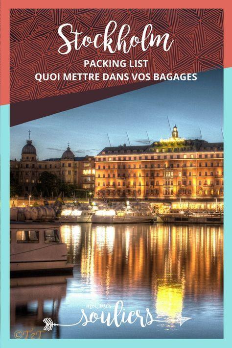 Packing list pour Stockholm | Packing list Suède | Voyage en Suède | City Trip Stockholm | Quoi mettre dans ses valises pour la Suède