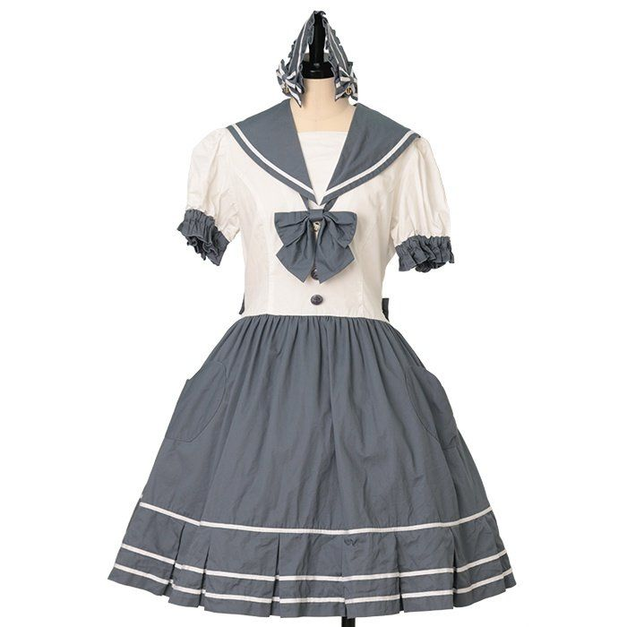 Skirt with Sailor Suspend + Sailor wear collar metamorphose https://www.wunderwelt.jp/en/products/w-29782  Worldwide shipping available ♪  How to order → https://www.wunderwelt.jp/en/shopping_guide