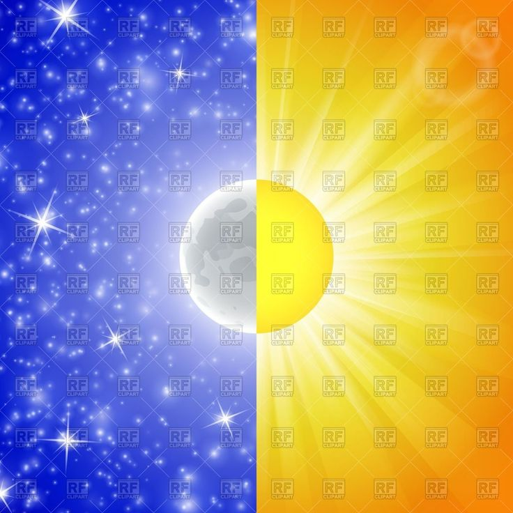 Royalty Free Vector image of Day and night conception - abstract background with sun and moon #40027 includes graphic collections of day, night, sun and Backgrounds, Textures, Abstract. You can download this image clipart in EPS and JPG format. #vectorart #vectorclipart #vectorstock #graphicdesign #diseñográfico #graphisme #grafikdesign #графическийдизайн