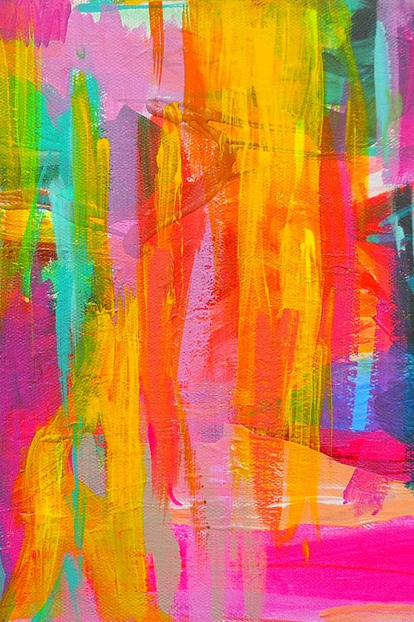 Double Neon Abstract by precious_beast on fabric, wallpaper, and gift wrap.  Bri...