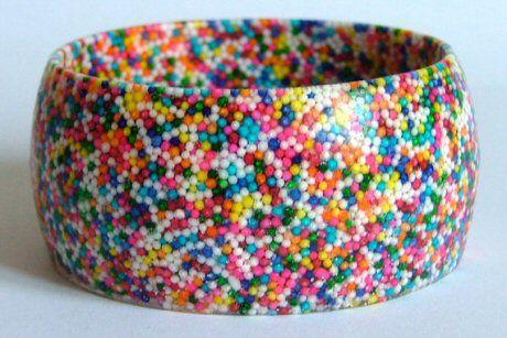 sprinkles resin bracelet