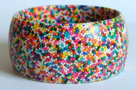 Made by Daisy Resin Hundreds and Thousands Bangle Bracelet