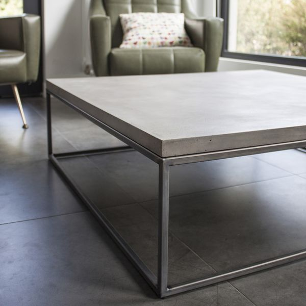 Table Basse Beton Xl 100 X 100 X H 30 Table Basse Beton Table Basse Table Beton
