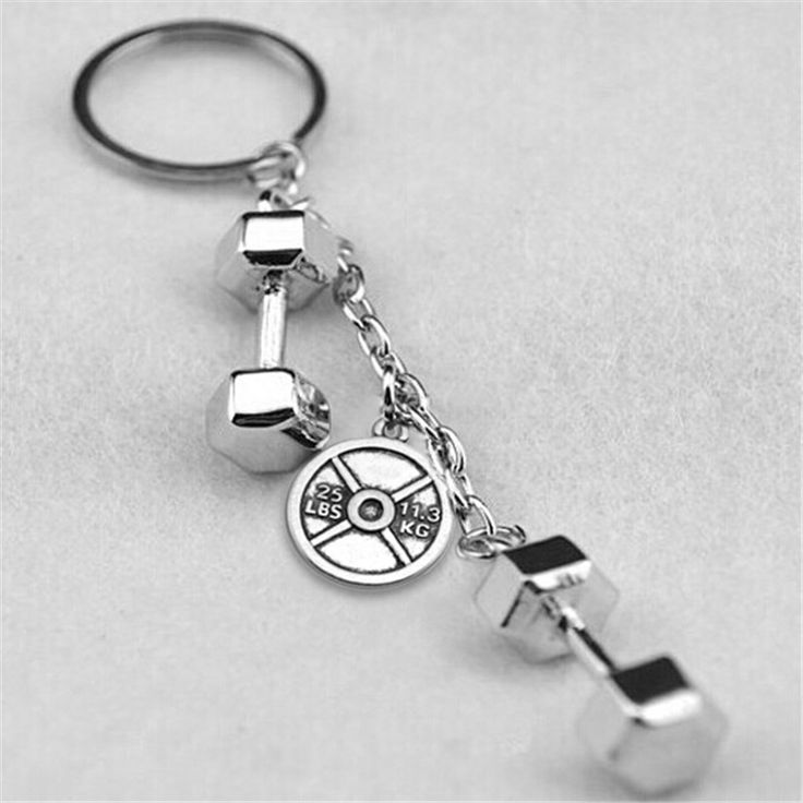 Metal 25lb weight plate strong is beautiful dumbbells kettle bells key cover keychains porte clef jewelery