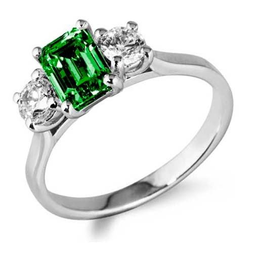 One of our stunning custom made emerald & diamond rings...
