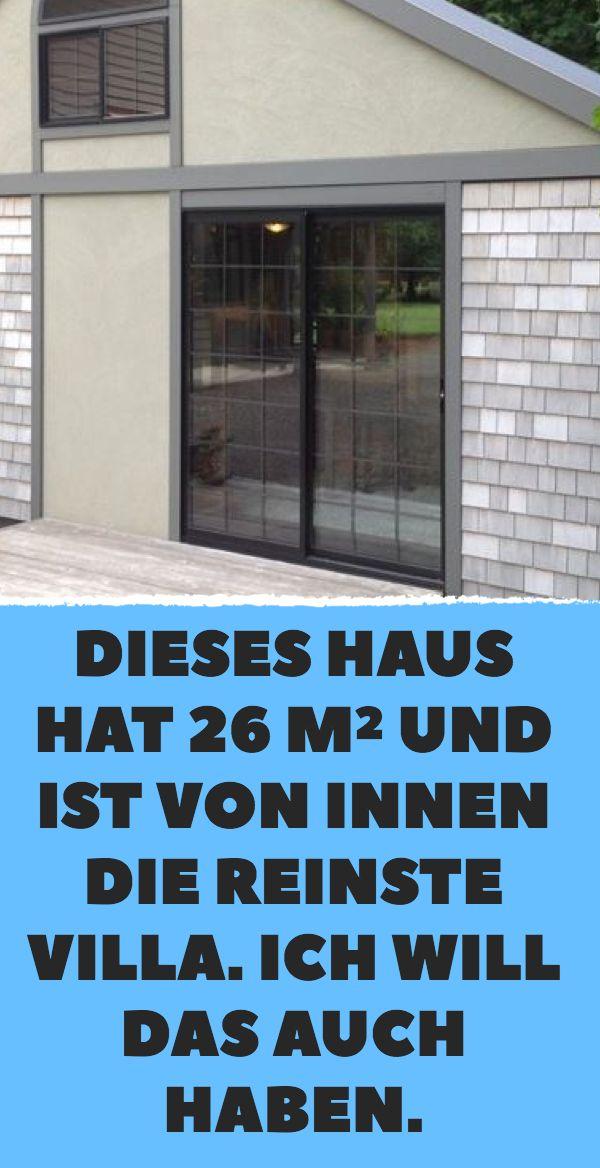 Dieses Haus hat 26 m² und ist von innen die reins…