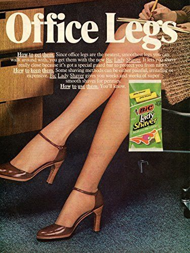 "Vintage BIC Lady Shaver Magazine Ad- ""Great Legs"""