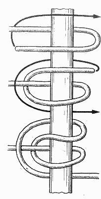 морские узлы - зигзаговый