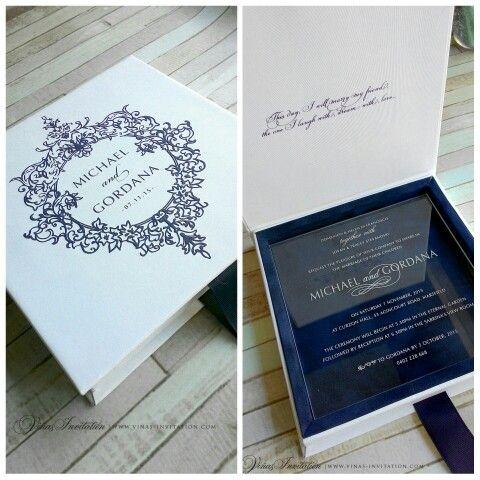 Acrylic Invitation Clic Simple Sydney Wedding