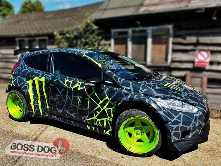 Motorsports boss dog vinyl wrap car wrap vehicle graphics