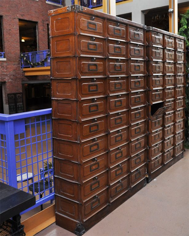 Pair Of Faux Painted Metal Multi-Drawer Cabinets Image 7