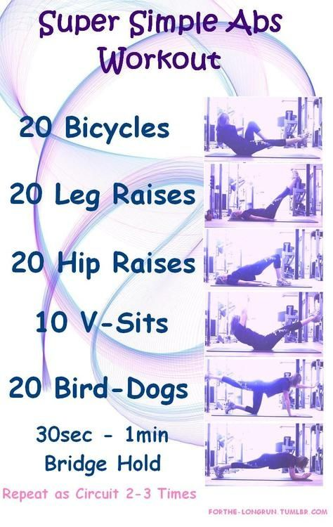 Love this! Simple ab work outs - would only take 10-15 minutes each day!